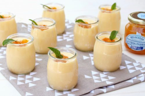 Receta de vasitos de crema de melocotón