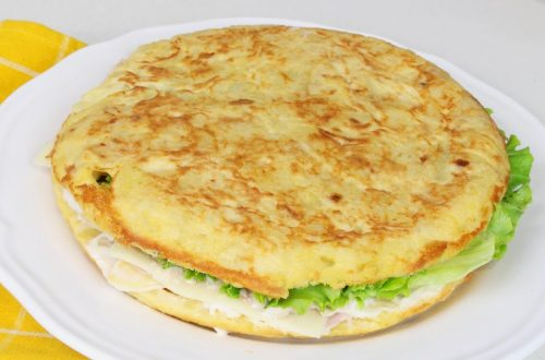 Receta de tortilla rellena fría