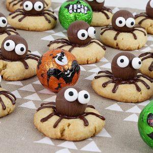 Receta de galletas araña para Halloween
