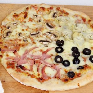 Pizza 4 estaciones con Thermomix