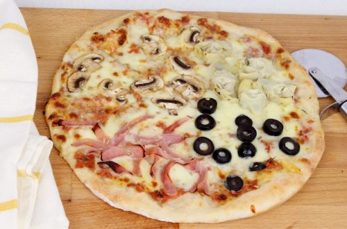Pizza 4 estaciones con Thermomix