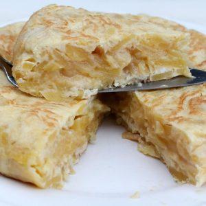 Tortilla de patata en olla de cocción lenta