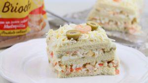 Receta de pastel frío de marisco con pan de molde