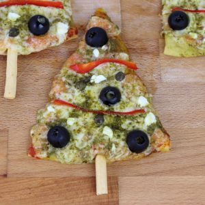 Receta de pizza árbol de Navidad