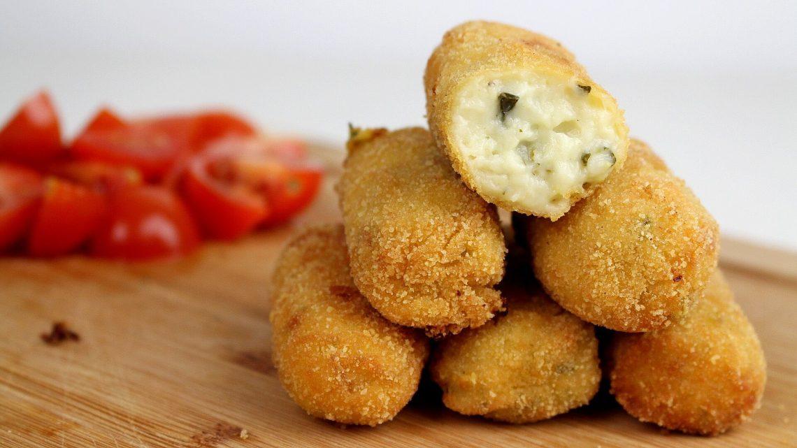 Receta de croquetas de calabacín y queso semicurado de oveja en Thermomix