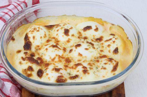 Receta de huevos rellenos de jamón y queso en Thermomix