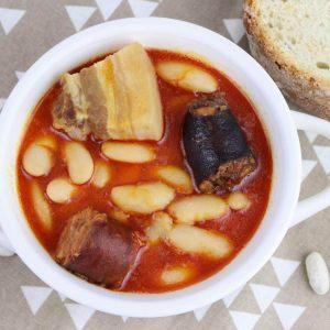 Receta de fabada asturiana en Thermomix en el modo de cocción lenta de TM6