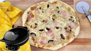 Receta de pizza barbacoa creme con Fun Pizza&Co de Cecotec