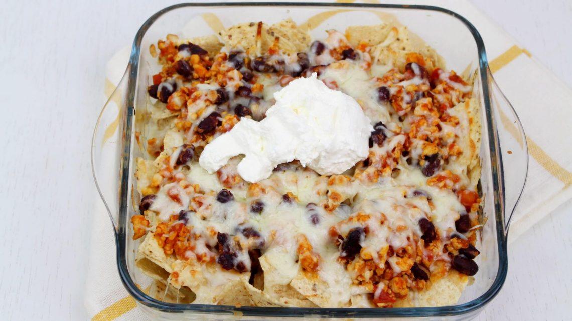 Receta de nachos con chili de pollo en Thermomix