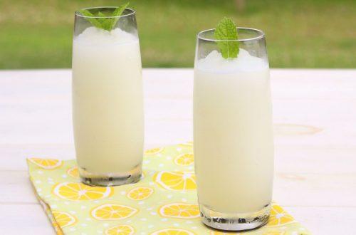 Receta de granizado de limón con Thermomix