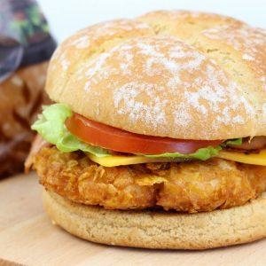 Receta de hamburguesa de pollo crujiente