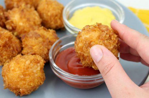 Receta de palomitas de pollo crujientes