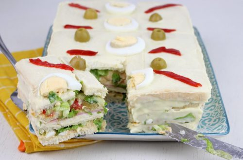 Receta de pastel frío de pan de molde con Mambo
