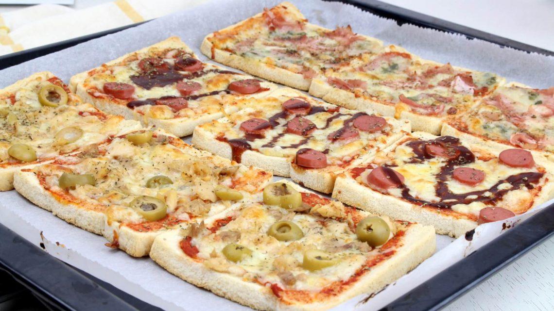 Receta de pizzas con pan de molde