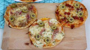 Receta de mini pizzas en obleas de empanadillas