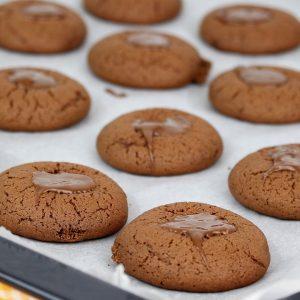 Receta de galletas de crema de cacao y avellanas con Mambo