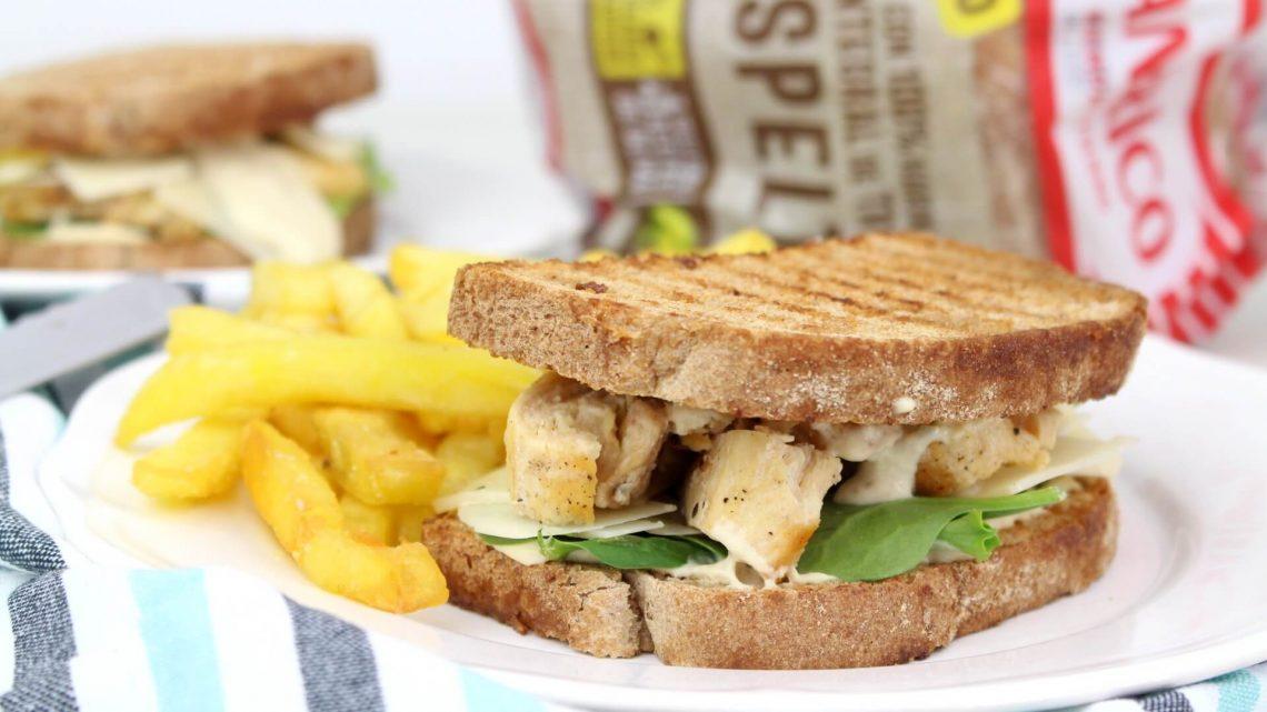 Receta de sandwich de ensalada César
